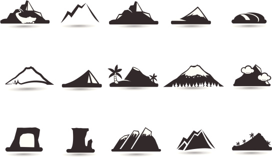 Mountain Icons and symbols