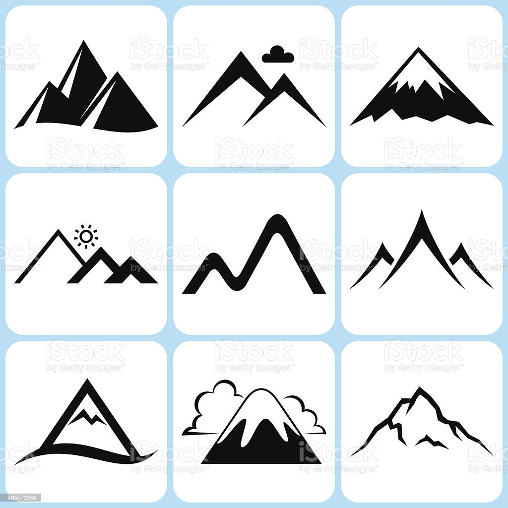 mountain icons set royalty-free mountain icons set stock vector art & more images of adventure