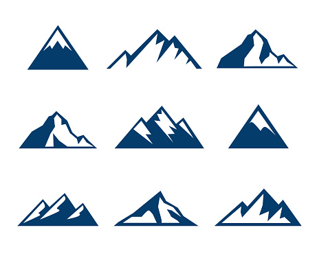 Mountain Icons - Symbols clipart