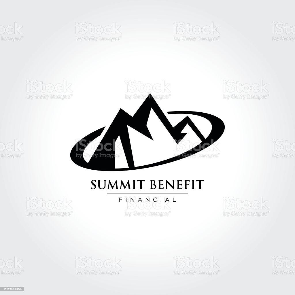 Mountain Illustration, Summit, Peak, Nature concept logo vector art illustration