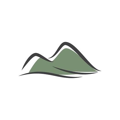 Mountain illustration logo template vector