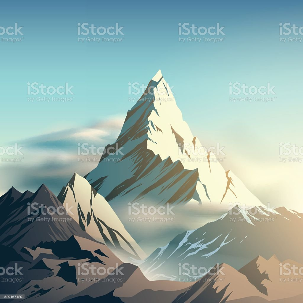 Mountain illustration vector art illustration