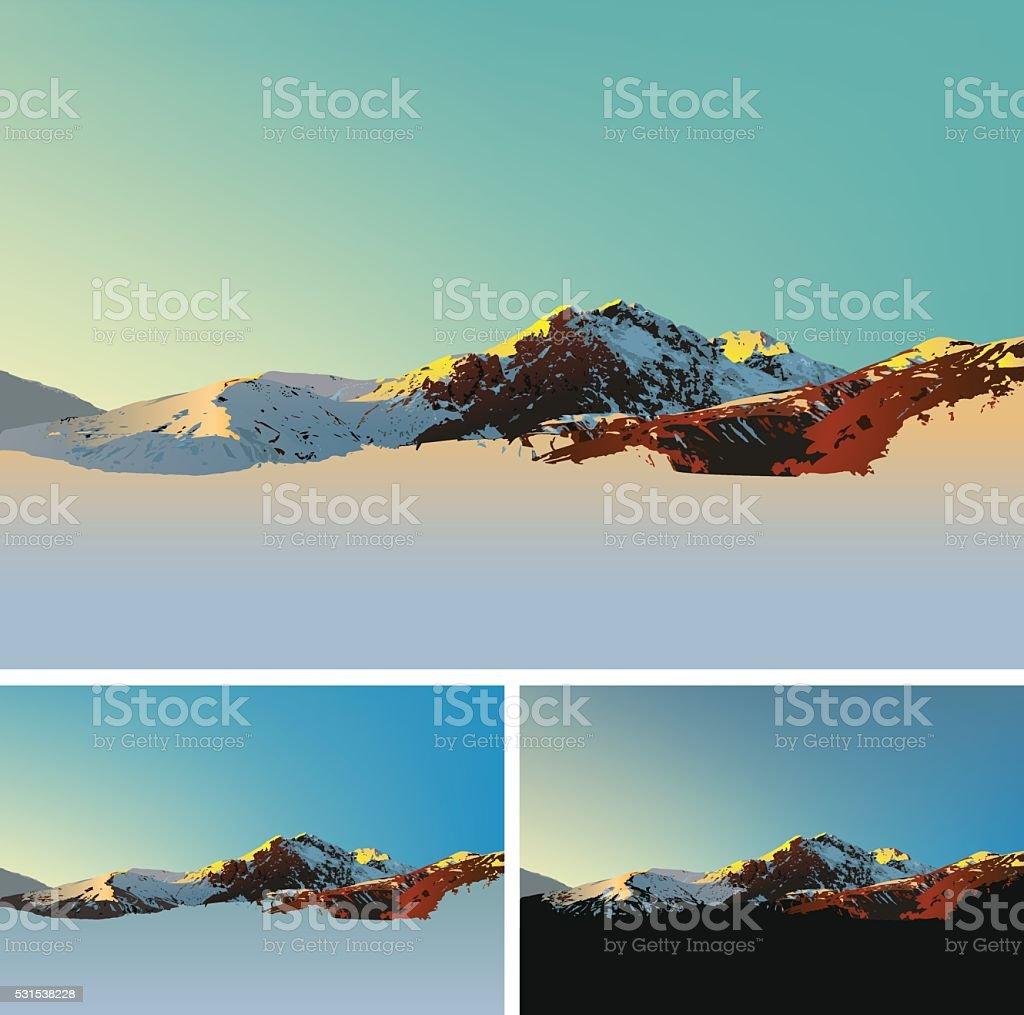 Mountain illustration vector art illustration