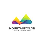 Mountain Illustration Vector Template. Suitable for Creative Industry, Multimedia, entertainment, Educations, Shop, and any related business.