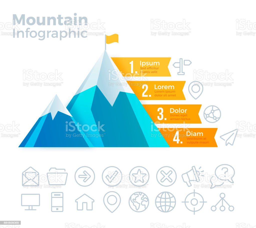 Mountain Infographic vector art illustration