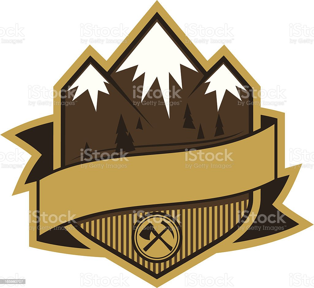 Mountain insignia royalty-free stock vector art