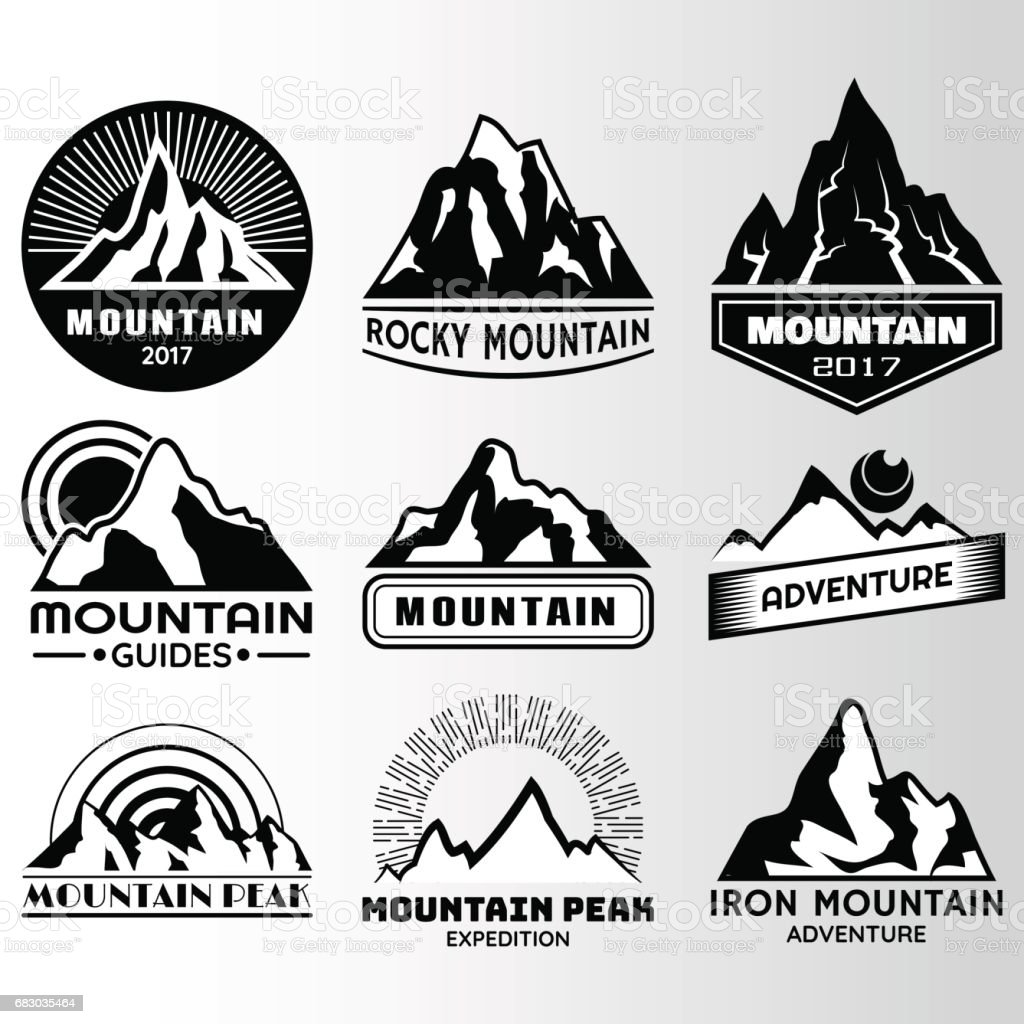 mountain lable Design Template mountain lable design template - arte vetorial de stock e mais imagens de abstrato royalty-free