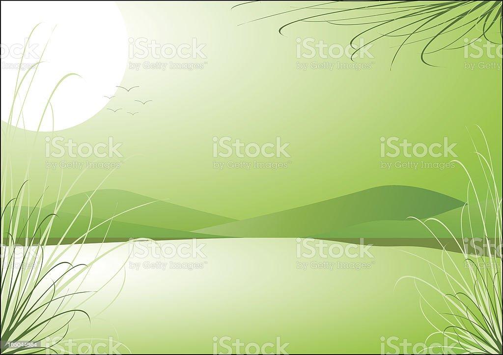 Mountain Lake Background royalty-free stock vector art