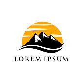 mountain landscape icon symbol illustration design template. outdoor icon symbol illustration design