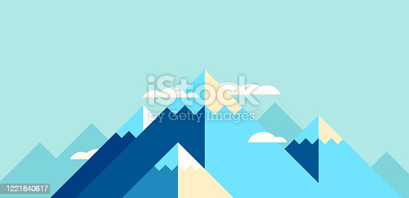 istock Mountain Landscape Modern Background 1221840617