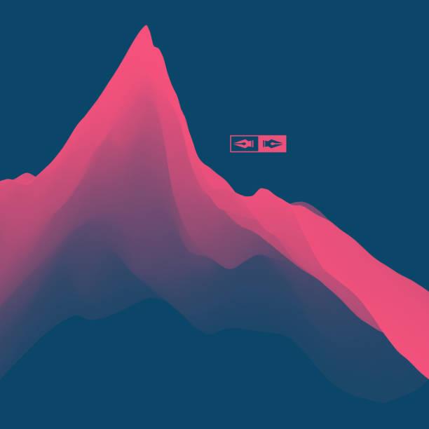 illustrations, cliparts, dessins animés et icônes de paysage de montagne. relief montagneux. abstrait. - topographie