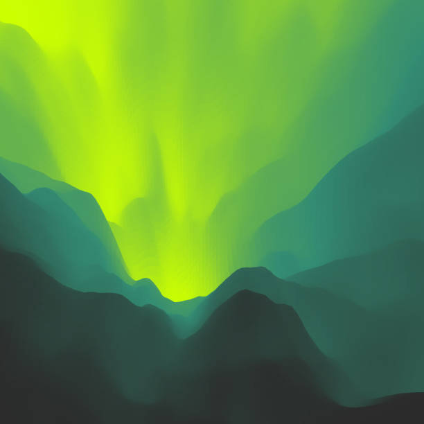Mountain Landscape. Mountainous Terrain. Mountain Design. Vector Silhouettes Of Mountains Backgrounds. Sunset. Can Be Used For Banner, Flyer, Book Cover, Poster, Web Banners. vector art illustration