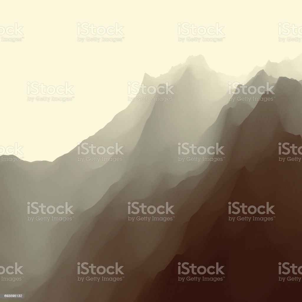 Mountain Landscape. Mountainous Terrain. Vector. Abstract Background. vector art illustration