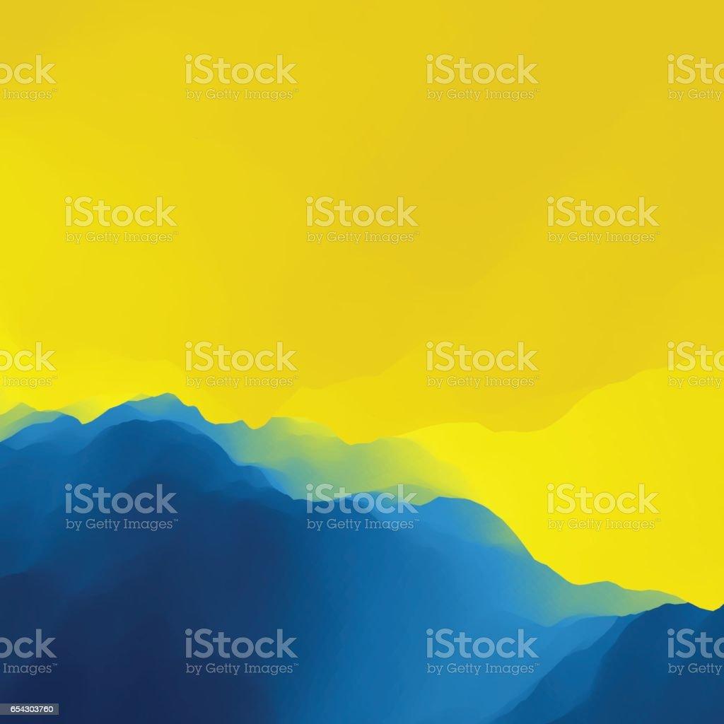 Mountain Landscape. Mountainous Terrain. vector art illustration