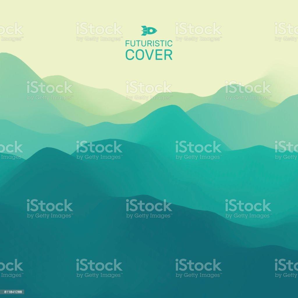 Mountain Landscape. Mountainous Terrain. Vector Illustration. Abstract Background. vector art illustration