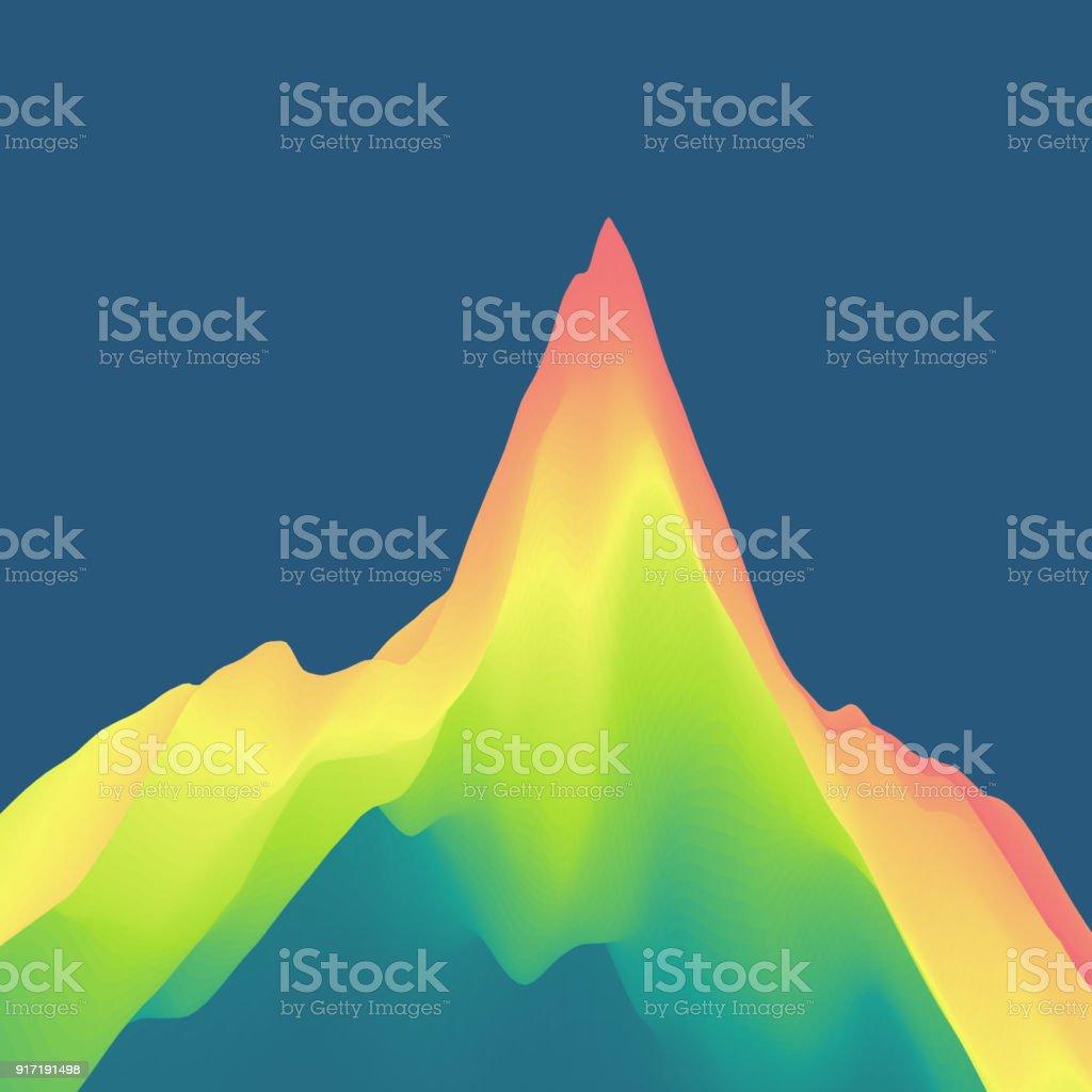 Ilustración de Paisaje De Montaña Terreno Montañoso Ilustración De ...