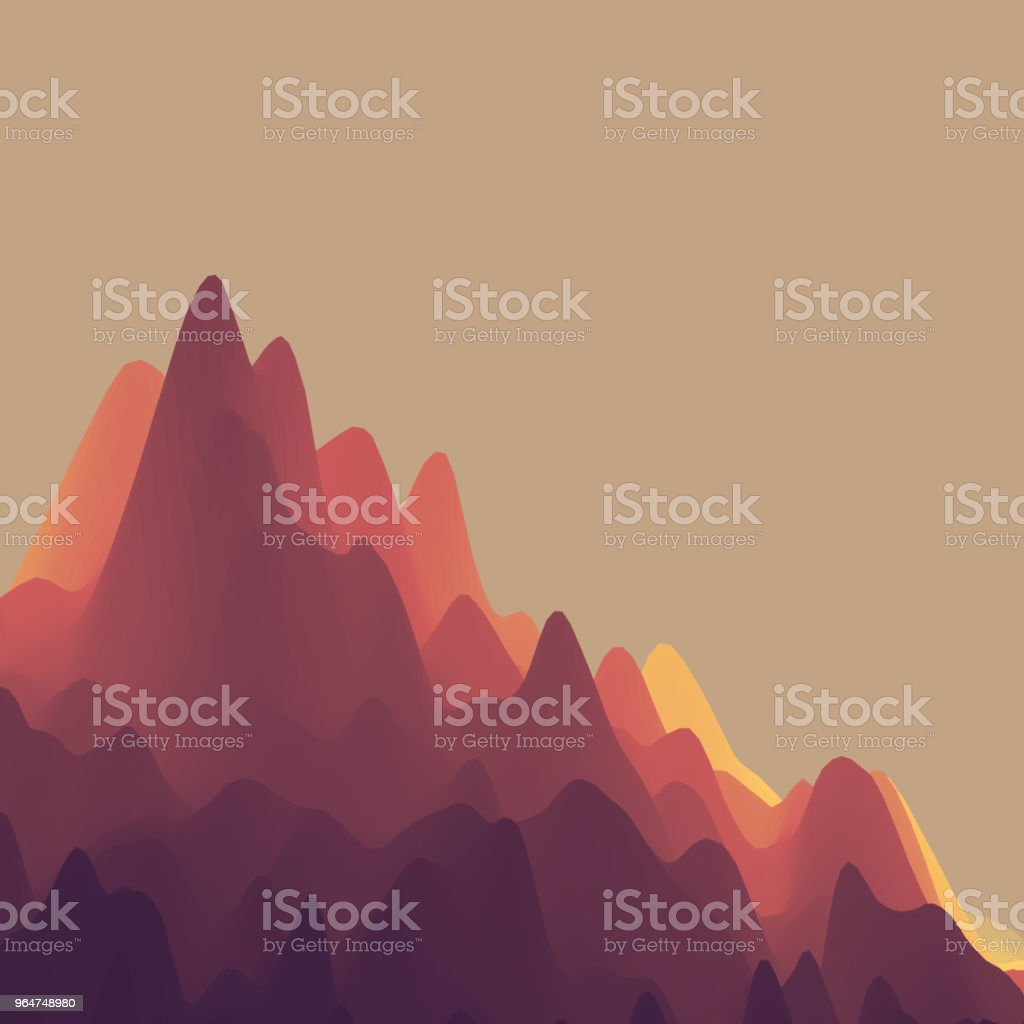 Mountain Landscape. Mountainous Terrain. Vector Illustration. Abstract Background. royalty-free mountain landscape mountainous terrain vector illustration abstract background stock vector art & more images of abstract