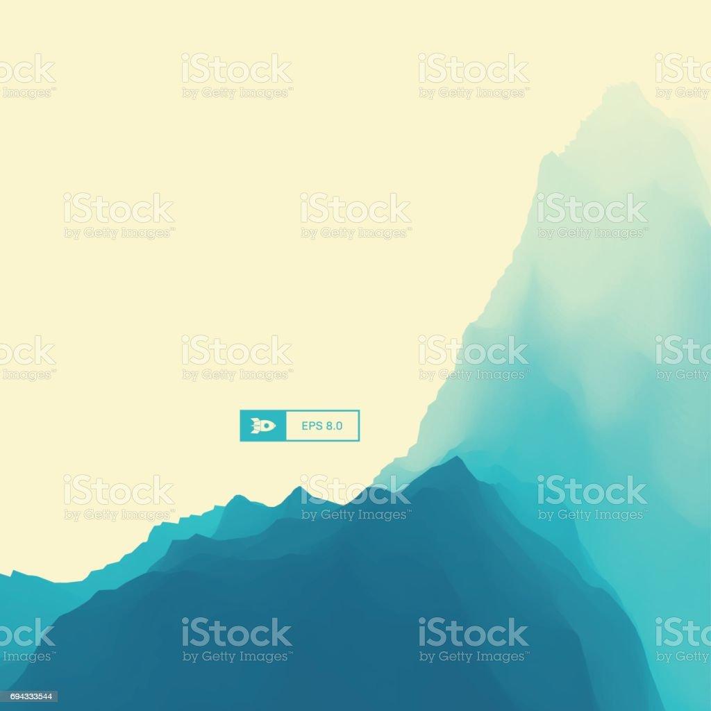 Ilustración de Paisaje De Montaña Terreno Montañoso Ilustración ...