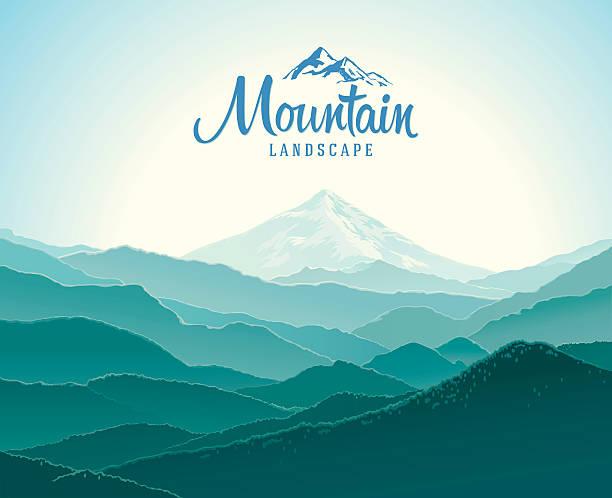 mountain landschaft. - erforschung des weltalls stock-grafiken, -clipart, -cartoons und -symbole
