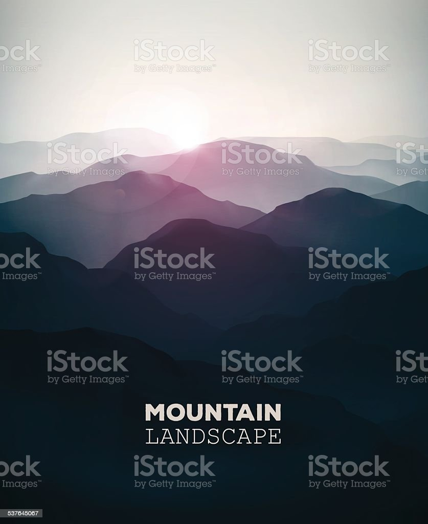 Mountain Landscape vector art illustration