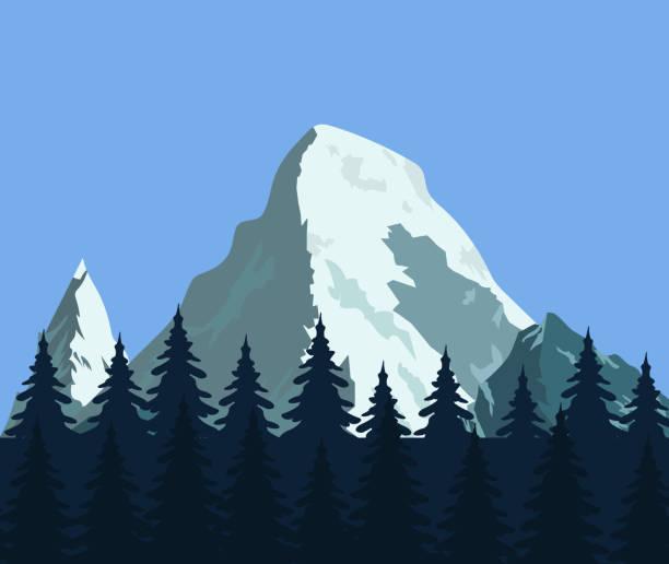 berglandschaft mit ihren wäldern und felsen - nationalpark stock-grafiken, -clipart, -cartoons und -symbole