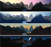Mountain Landscapes | Dawn, Morning, Dusk, & Night