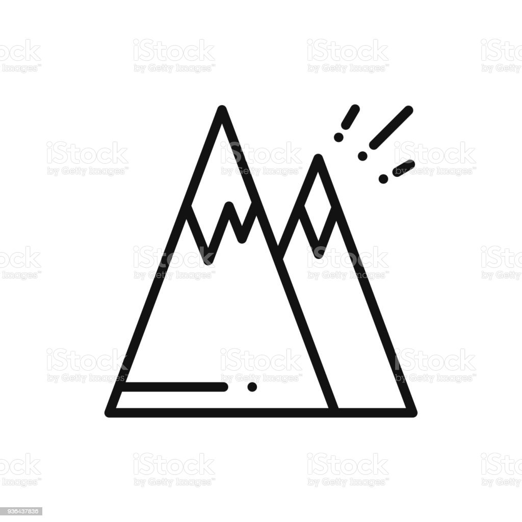 Mountain Line Icon Mount Sign And Symbol Hill Stock Vector Art