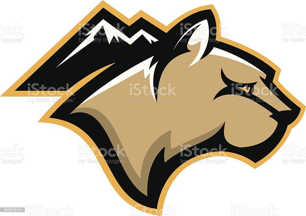 royalty free cougar mascot clip art vector images illustrations rh istockphoto com cougar school mascot clipart