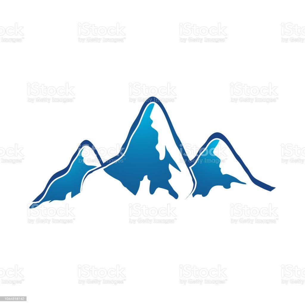 Mountain Logo Elegant Mountain Vector Logo Design Illustrator