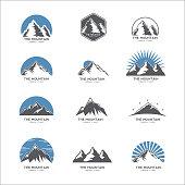 The mountain icon, set of 12