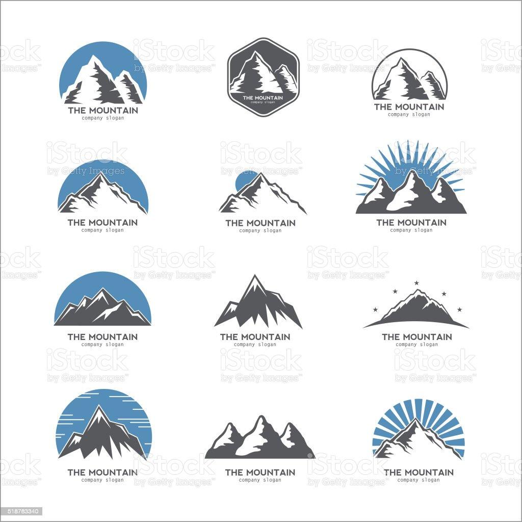 Mountain logo, icon vector art illustration