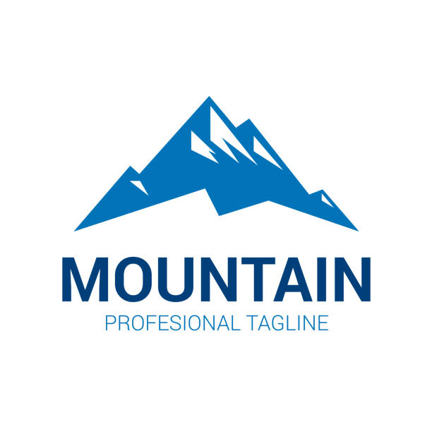 Mountain logo Mountain logo. Vector logo template suitable for businesses and product names. mountain top stock illustrations