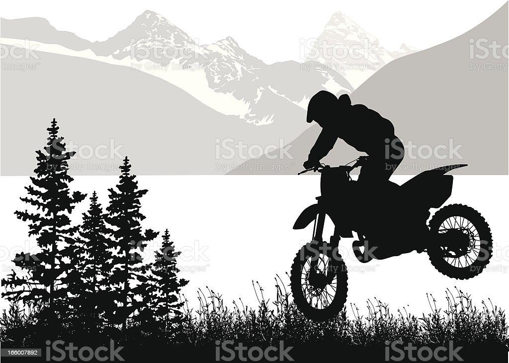 Mountain Moto royalty-free stock vector art