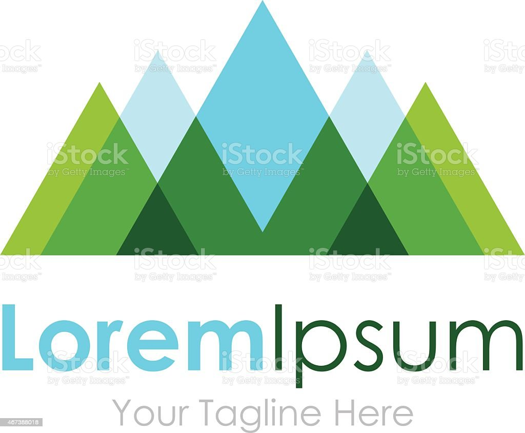 Mountain nature eco landscape view element icon logo for business vector art illustration