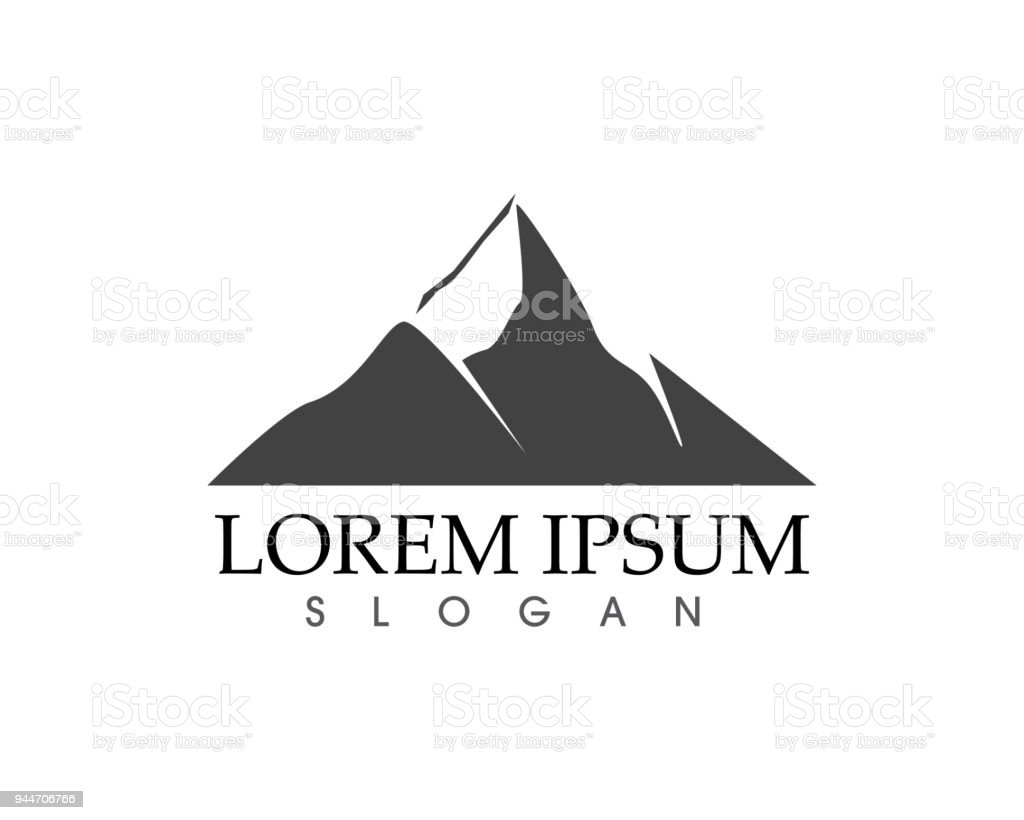 mountain nature landscape logo and symbols icons template stock