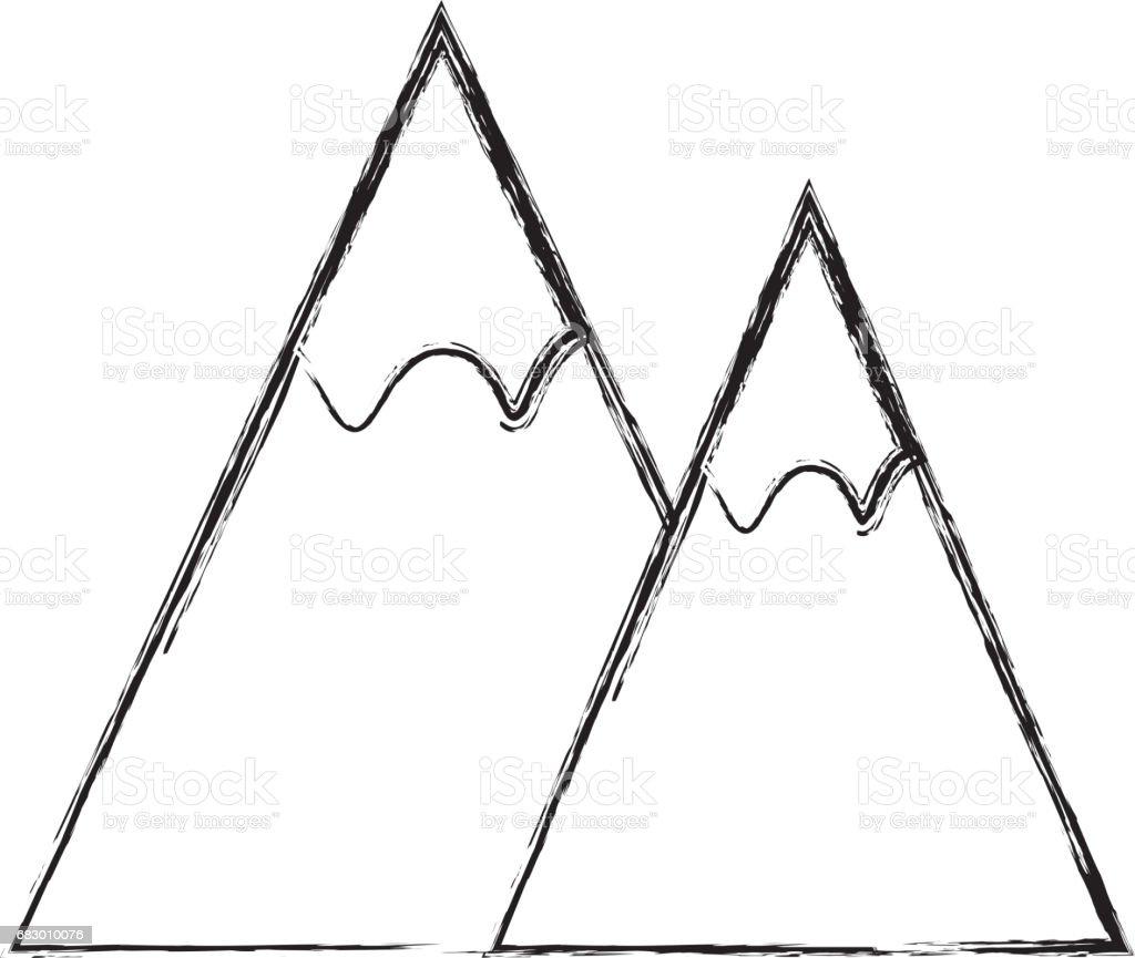 Paisaje de la naturaleza de la montaña ilustración de paisaje de la naturaleza de la montaña y más banco de imágenes de aire libre libre de derechos