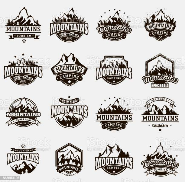 Mountain nature travel outdoor vector badge icons set vector id853653108?b=1&k=6&m=853653108&s=612x612&h=3crfqxmqmsayzhnmybut7ni5g1c1f2ln0hh7hogjb0c=