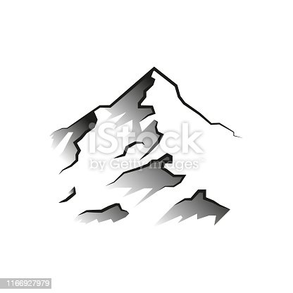 mountain on a white background vector flat illustration
