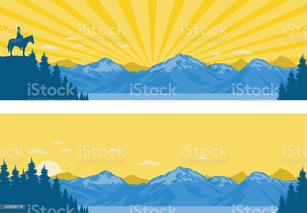 Mountain Panoramas vector art illustration