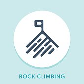 istock Mountain Peak Curve Icon 816240388