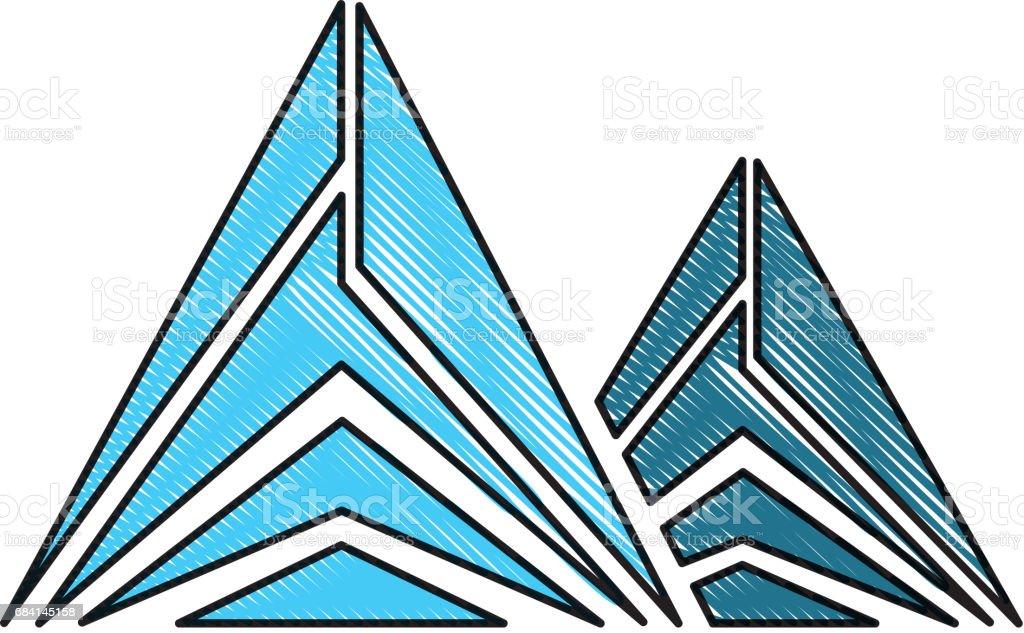 Mountain peak emblem icon mountain peak emblem icon - stockowe grafiki wektorowe i więcej obrazów alpinizm royalty-free