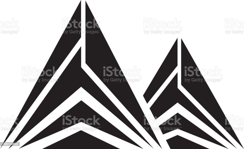 Mountain peak emblem icon mountain peak emblem icon - immagini vettoriali stock e altre immagini di alpi marittime royalty-free