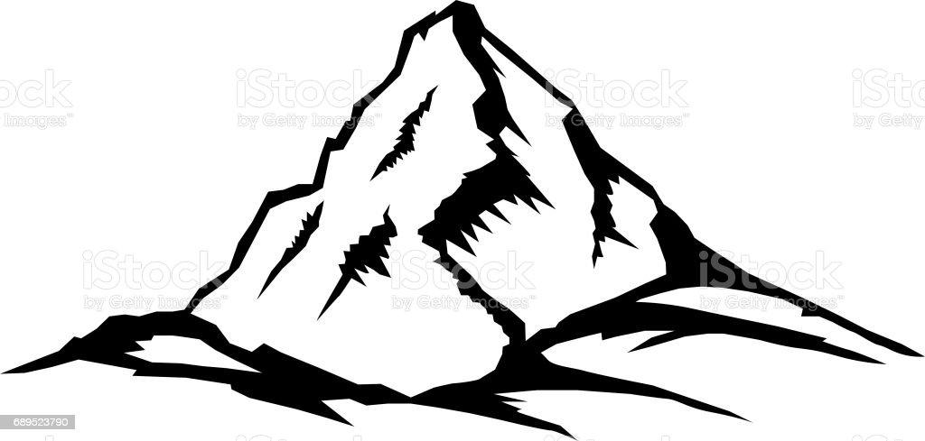 Mountain Peak Landscape Series Stock Illustration ...