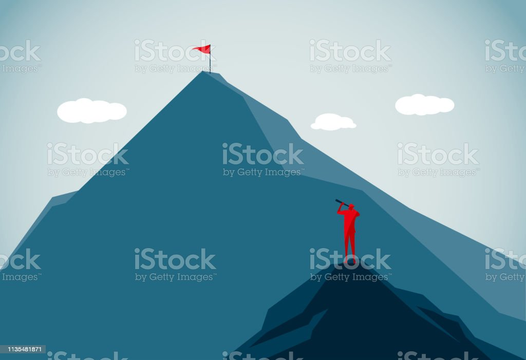 mountain peak commercial illustrator Abstract stock vector