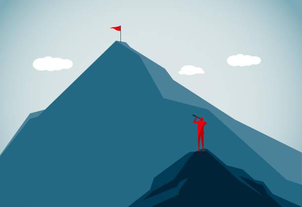 горная вершина - понятия и темы stock illustrations