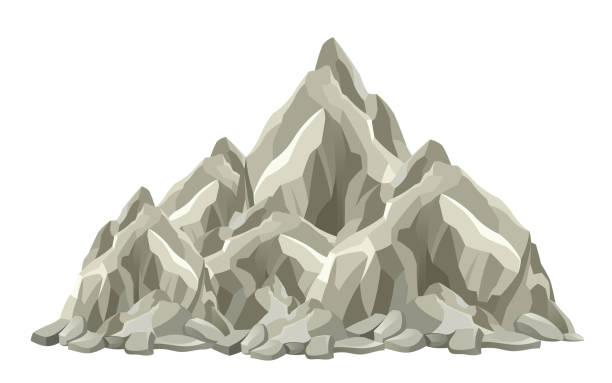 mountain peak - rock formations stock illustrations