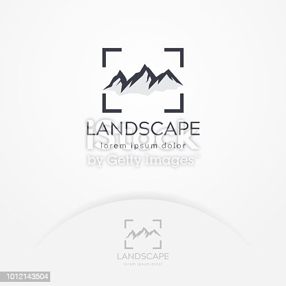 Mountain photography logo. Modern photography logo, Nature and landscape photography. Travel logo template
