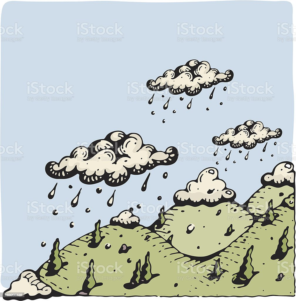 Mountain Rain and Snow royalty-free mountain rain and snow stock vector art & more images of cloud - sky