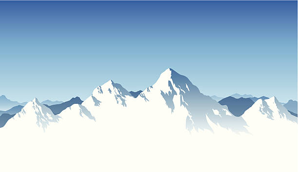 Mountain Range Background A snowy mountain range background. mountains stock illustrations