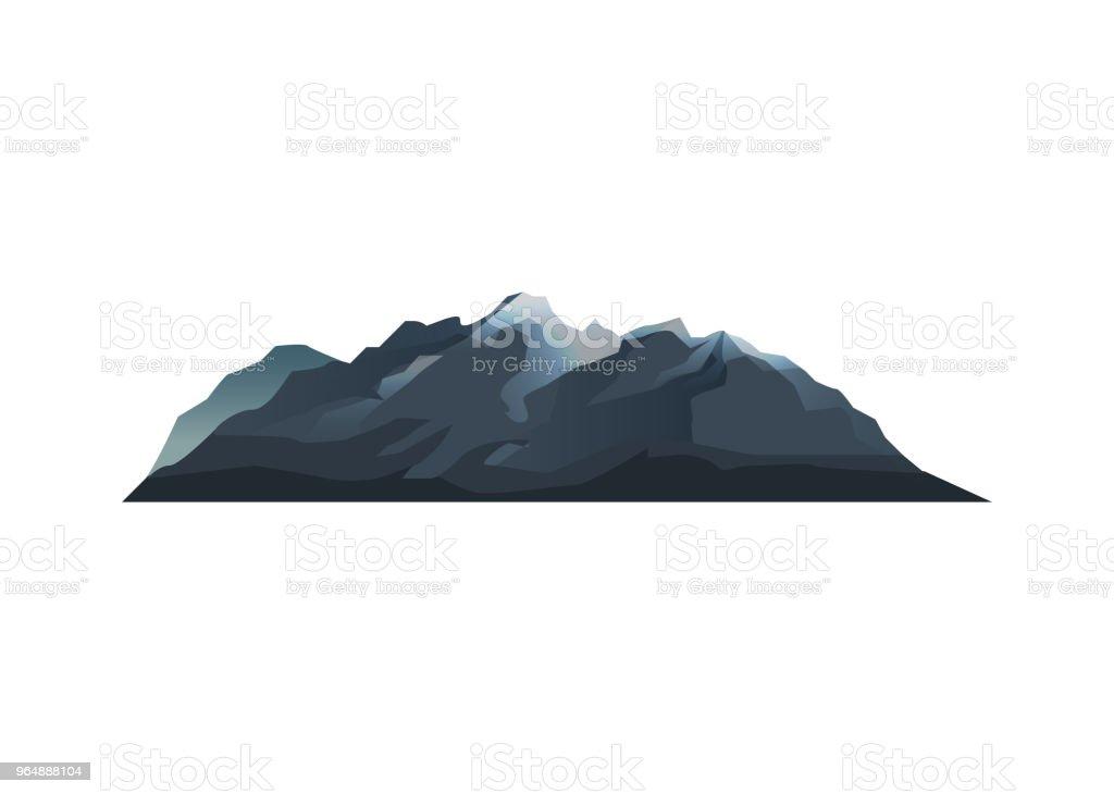 山脈孤立向量圖示 - 免版稅上衣圖庫向量圖形